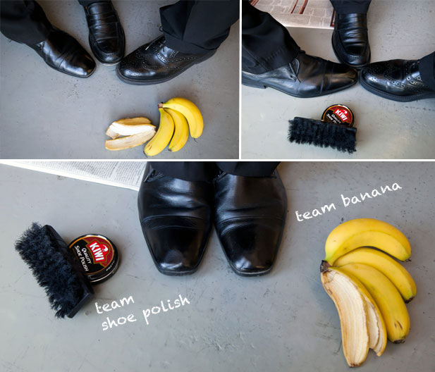 banana peeiling as shoe polish rrl