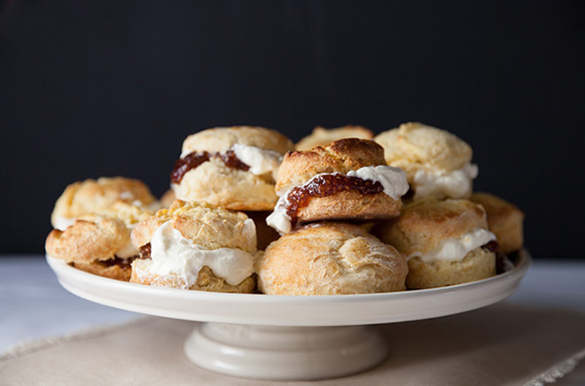 Scones-on-cake-stand