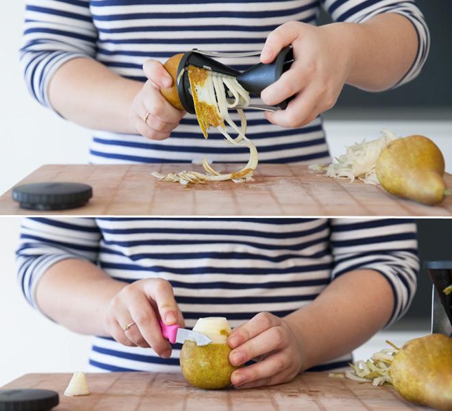 julienne pear strips