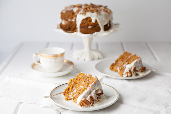 A recipe for carrot cake