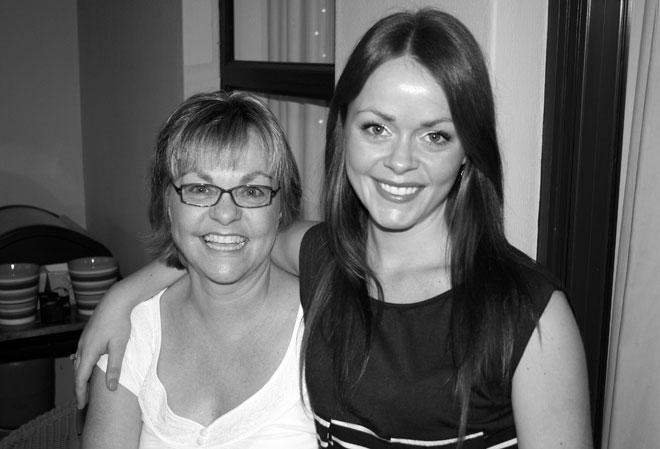 Renee with her mum