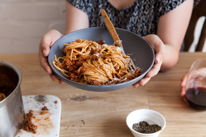 Easy bolognese for weeknight cooking