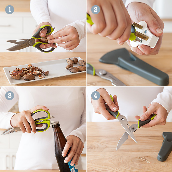 4 features of the Yuppiechef multipurpose scissors