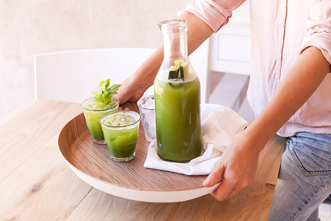 Green-juice-served
