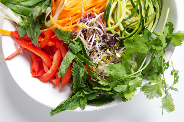 Vegetable wrap ingredients