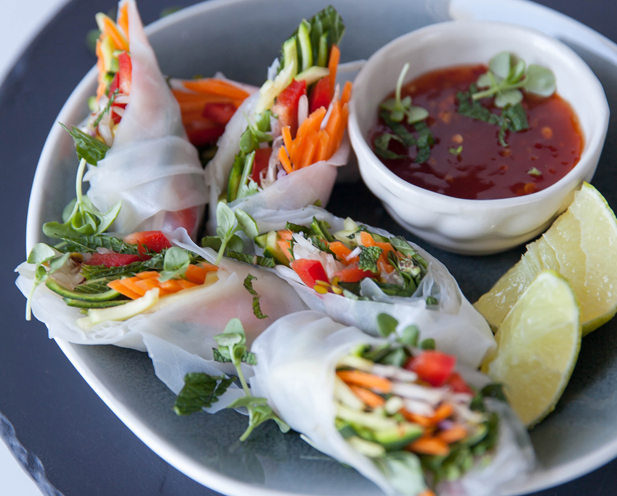 Canap ideas minty vegetable and rice paper rolls for Canape vegan