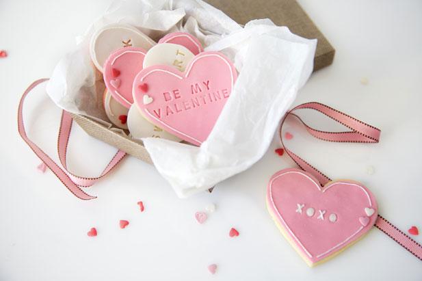 A box of Letterpress sweethearts