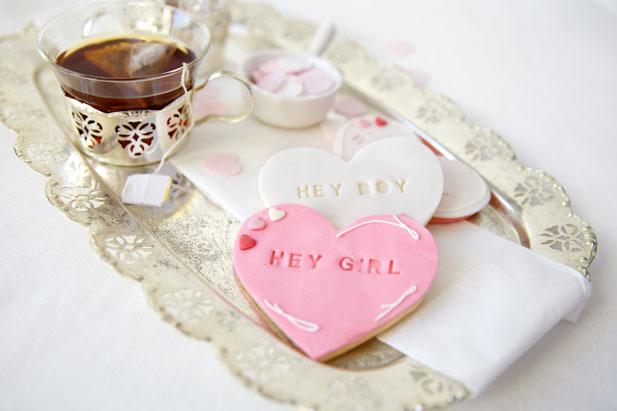 Letterpress cookies for tea