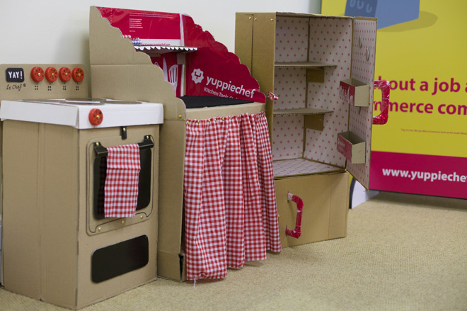 We Built A Cardboard Kitchen