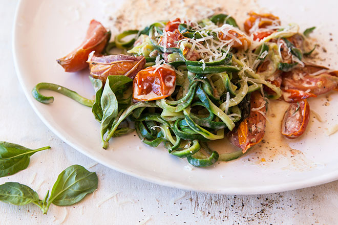 Veggie noodle pasta: simple summer eating at its best