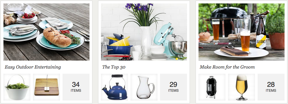 wedding registry collections