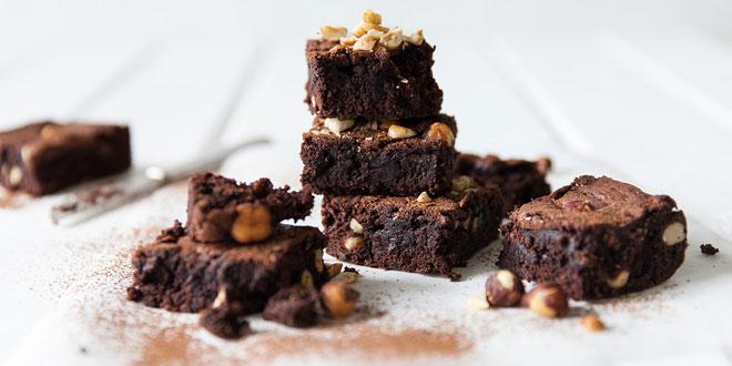 Nutty chocolate brownies