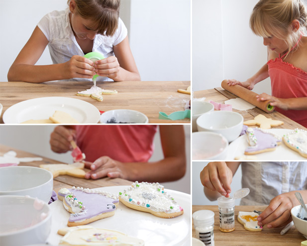 Decorating Easter biscuits