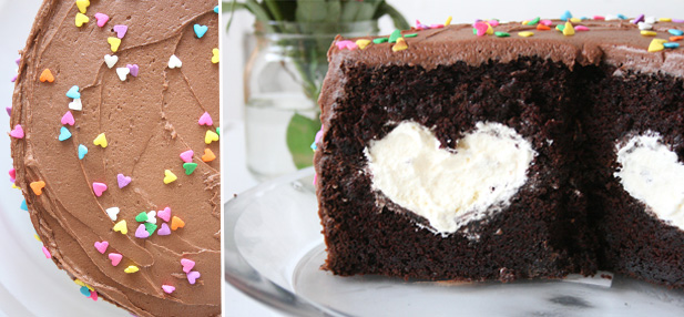 how to use the wilton heart shaped centre cake pan