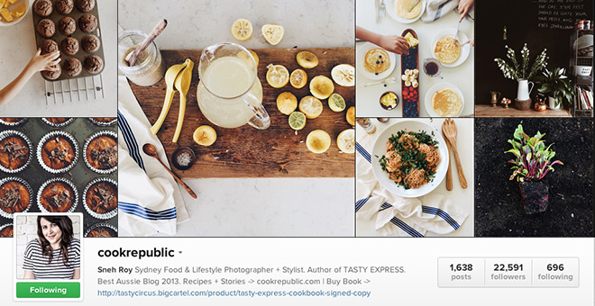 9 foodie instagram accounts you just have to follow cook republic on instagram forumfinder Gallery