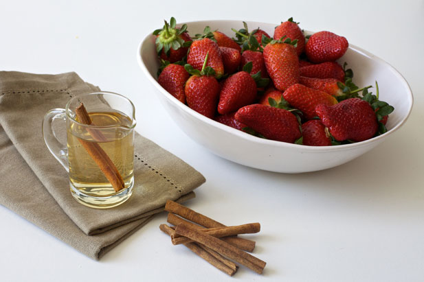 Rose water syrup with cinnamon spice