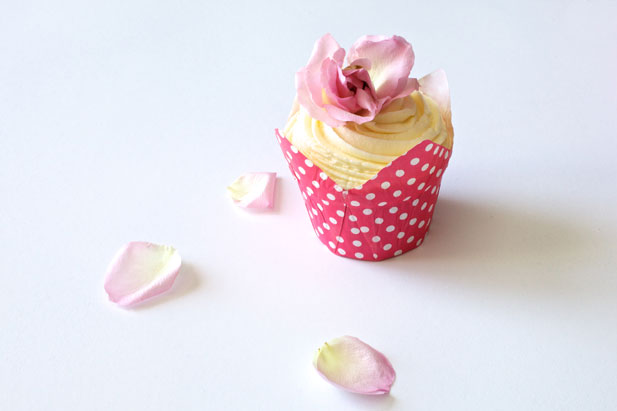 Rose water icing for cupcakes