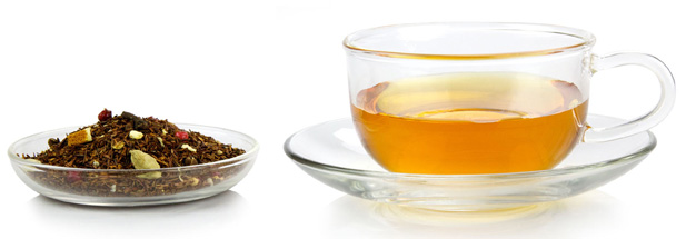 Tisane tea and tea leaves