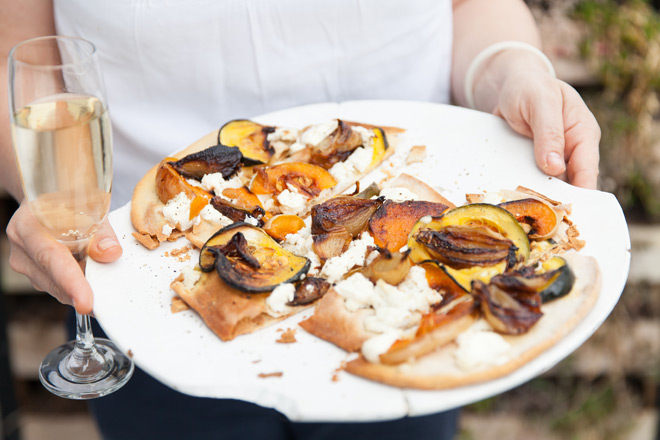 squash and ricotta flatbreads