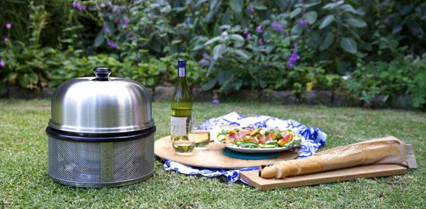 Nectarine, almond and prosciutto salad