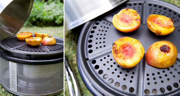Cooking fresh foods in the outdoors
