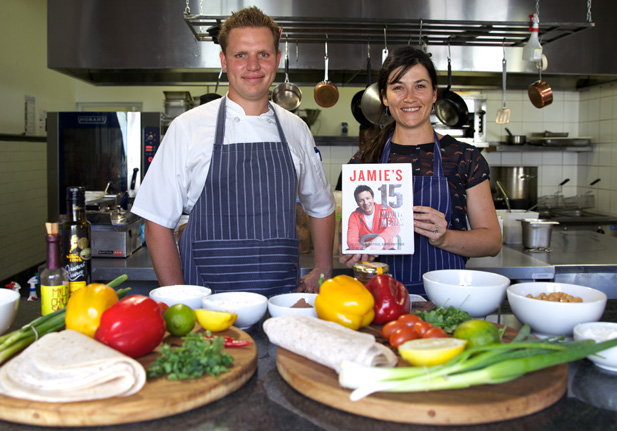 The test: Chef Stef and Louise make Jamie's 15 minute meals