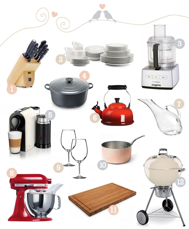 12 Must Haves For Your Wedding Registry