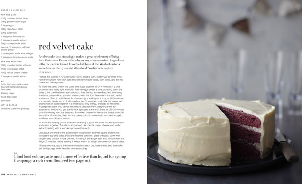 Red velvet cake from Annie Bell's Baking Bible