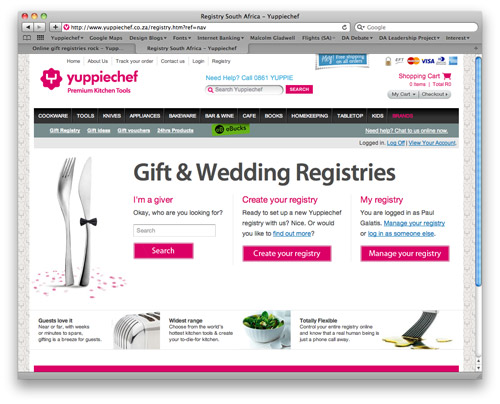 Yuppiechefs online gift registry yuppiechef magazine traditionally wedding registries would be set up at a store in the hometown of the bridal couple brides looked forward to wandering through a shop of negle Gallery