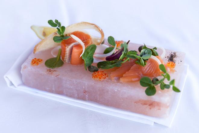 Salt slab cured trout