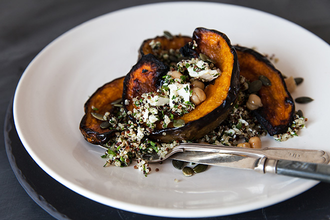 Recipe for herby quinoa and pumpkin