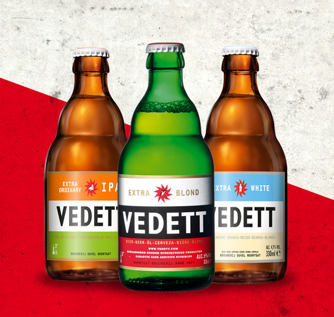 A polar bear, a walrus and a penguin walk into a bar: Meeting Vedett