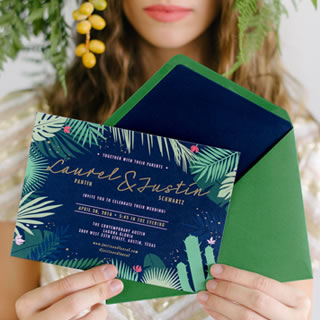 Tropical Jungle Wedding Stationery by White Kite Studio