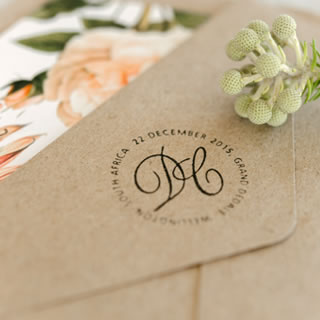Peaches & Cream Wedding Stationery by White Kite Studio