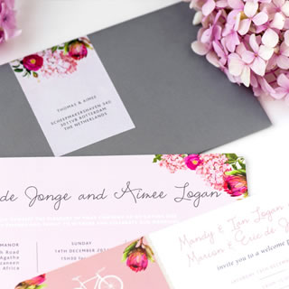Floral Bliss Wedding Stationery by White Kite Studio