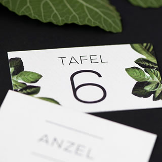 Table Numbers Design by White Kite Studio