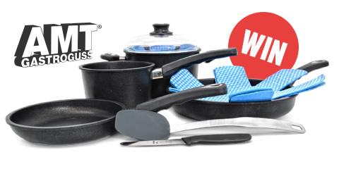 AMT Gastroguss 8 Piece Cookware Set