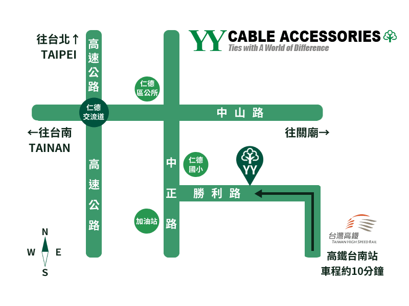 Y.Y. CABLE ACCESSORIES MAP