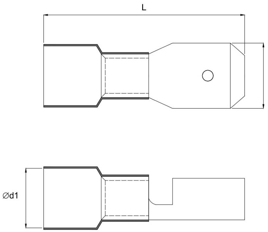 INSULATED MALE DISCONNECTORS