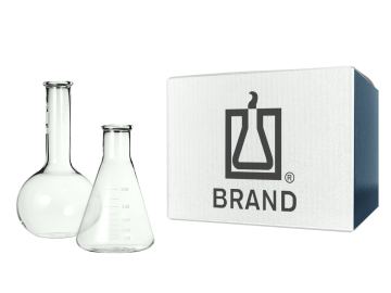 BRAND® square bottle with tamper-proof screw cap, PE-HD SKU : br130428