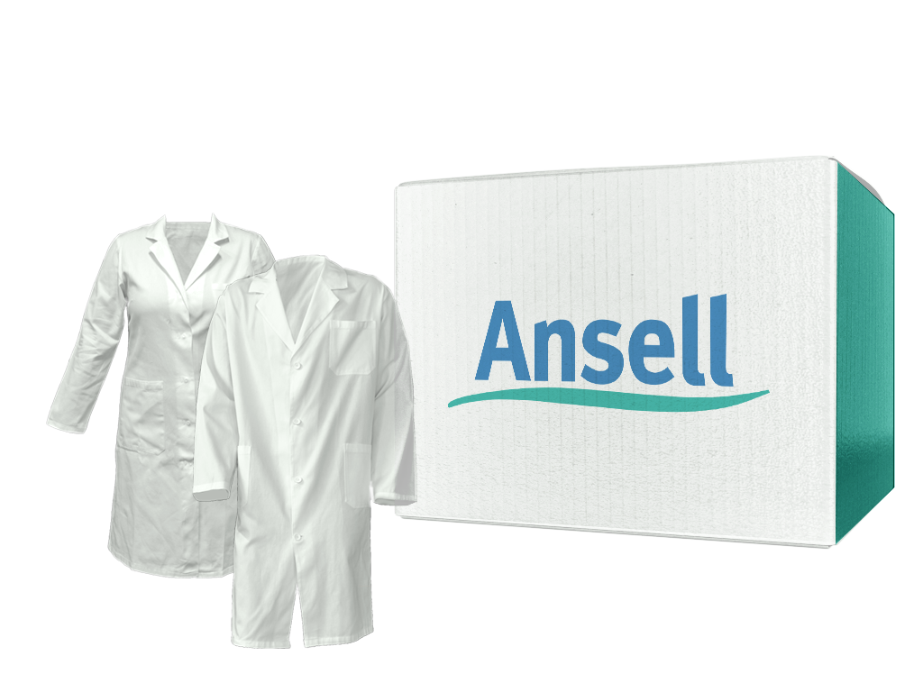 BioClean-C™ Nonsterile Chemotherapy Protective Apron, Ansell SKU: BCDA-M