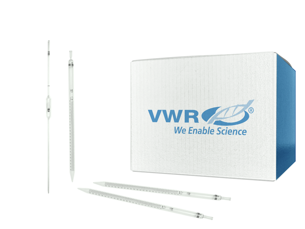 VWR® Disposable Serological Pipets, Polystyrene, Sterile, Plugged - 279 mm - 2 mL - 6.48 mm