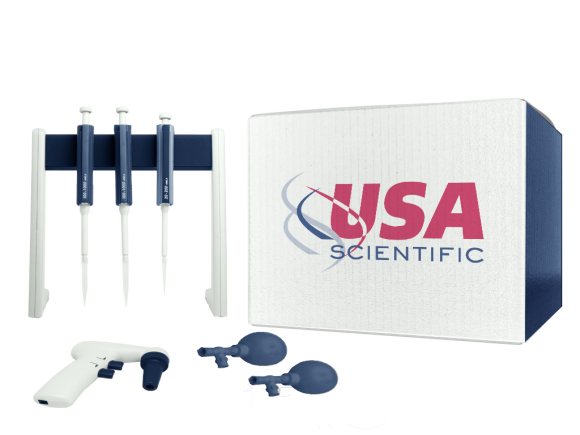 USA Scientific ErgoOne carousel stand, holds up to 8 pipettes package