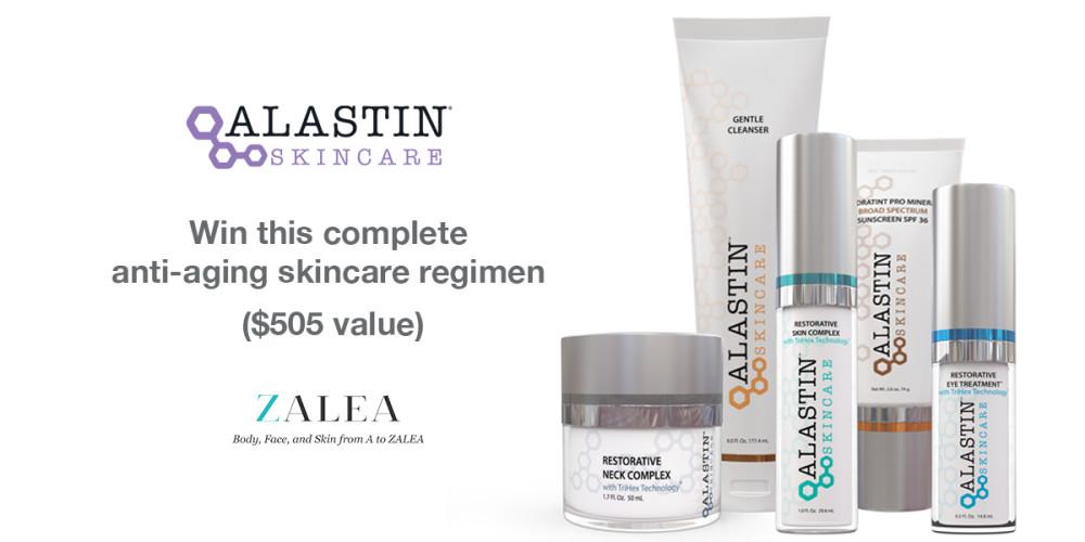 2018 ZALEA Alastin Skincare® Giveaway - ZALEA Article Banner