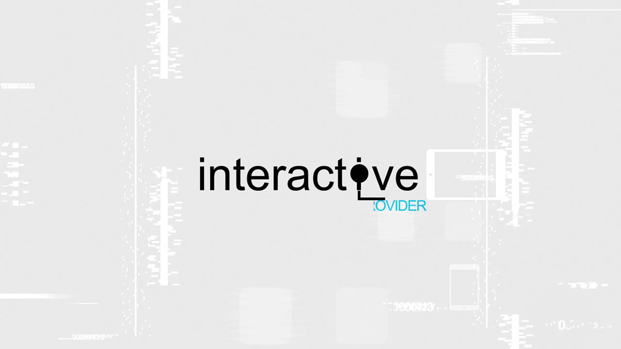interactive logo reveal
