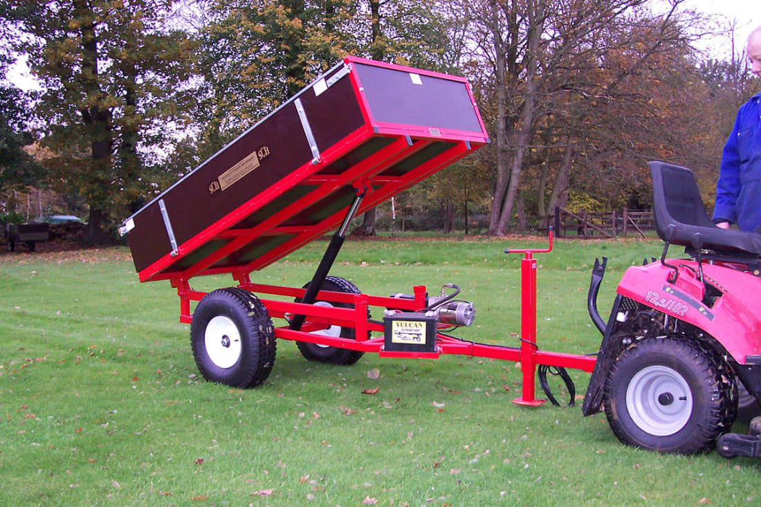 SCH HTRLE 1000kg Two-Wheel Hydraulic Tipping Trailer