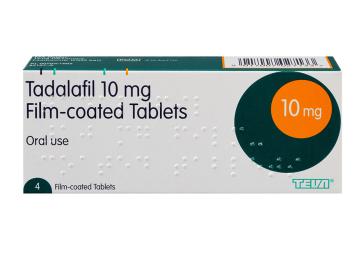 4 pack of tadalafil 10mg film-coated oral tablets