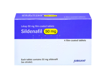4 pack of 50mg sildenafil citrate film-coated tablets