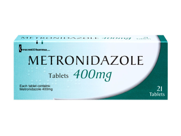 Pack of 21 400mg metronidazole tablets