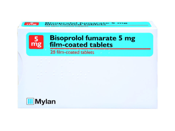 28 pack of 5mg bisoprolol fumarate film-coated tablets